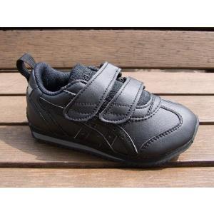 アシックス アイダホ ミニ SL JP / ブラックxブラック ASICS キッズ スニーカー ジュニア 子供靴 ベルクロ マジックテープ TUM189-9090|tadasports