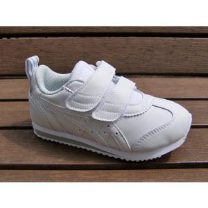 アシックス アイダホ ミニ SL JP / ホワイトxホワイト ASICS キッズ スニーカー ジュニア 子供靴 ベルクロ マジックテープ TUM189-0101|tadasports