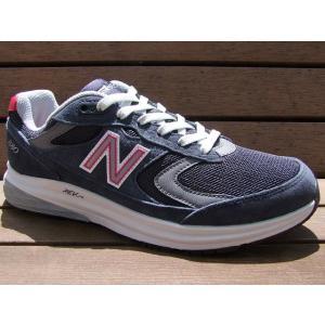 ニューバランス MW880 NR3 2E / ネイビーxレッ...