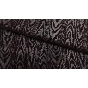 プレミアムモケット モアレ ブラック 137cm巾 【商品番号:MA0337-BK-】 taenaka