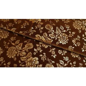 プレミアムモケット ロゼ ディープブラウン 137cm巾 【商品番号:MA0338-DBR-】 taenaka