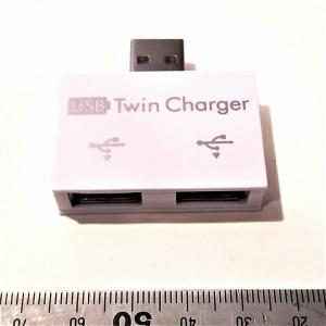 充電専用USB 2分岐コネクタ 2台同時充電可能|tafuon