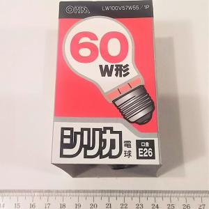 E26口金の電球 60W OHM製 tafuon