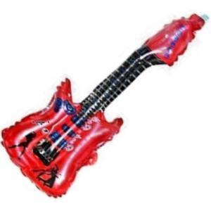 ギター型の風船バルーン 伝振動スピーカーで体感振動|tafuon