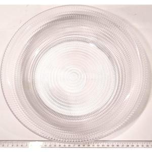 細かい模様の透明プラスチック皿 サラダボール30cm 高級感 伝振動スピーカー振動板|tafuon