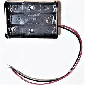 電池BOX 単4×3本用 蓋なし/蓋スイッチ付き  tafuon