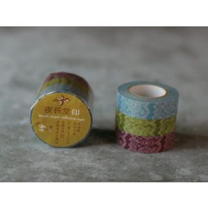 倉敷意匠 レース マスキングテープ 3色セット|tag