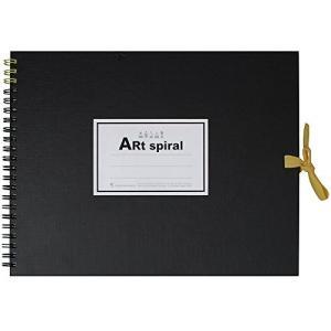 マルマン F2 スケッチブック アートスパイラル 24枚 厚口画用紙 ブラック S312-05|tag