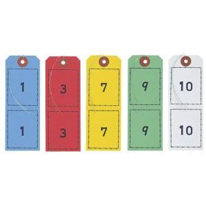 オープン工業 連番荷札(5セット)