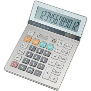 シャープ 実務電卓 グリーン購入法適合モデル セミデスクトップタイプ 12桁 EL-S752KX|tag