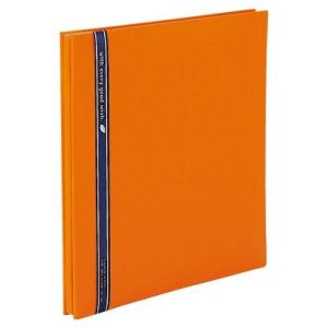 SEKISEI アルバム フリー ハーパーハウス ミニフリーアルバム 黒台紙 20ページ 11~20ページ 布 オレンジ XP-1001 tag