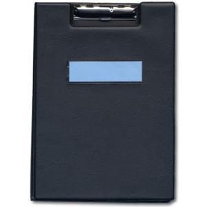 一ツ橋ノート 用箋ばさみ A4-S(クリヤーポケット2枚付) 黒 ヨウセン-300黒|tag