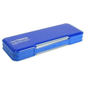 三菱鉛筆 筆箱 ユニパレット 両開きペンケース 青 P1000BT300|tag