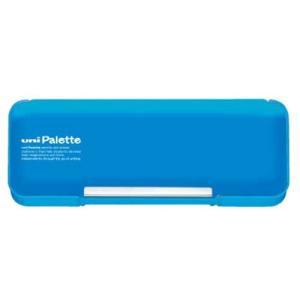 三菱鉛筆 筆箱 ユニパレット 両開きペンケース 水色 P1000BT302|tag