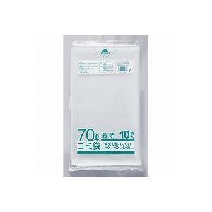クラフトマン ゴミブ黒 透明 70LX10枚