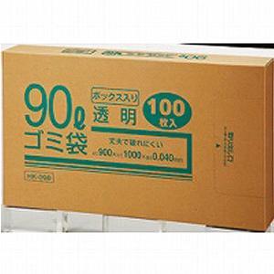 クラフトマン ゴミブ黒 透明 90LX100枚
