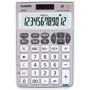 カシオ計算機 テンキー電卓 MZ-20-SR-N 4971850172536|tag