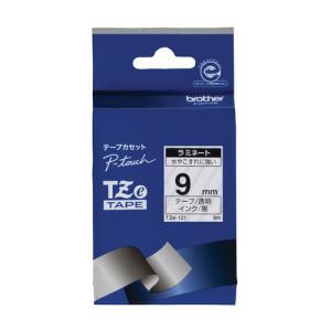 ブラザー 文字テープ TZe-121透明に黒文字 9mm 4977766701679|tag