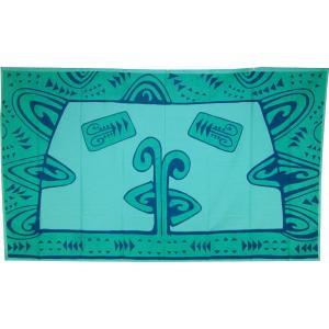 送料無料 アリークリエーションタヒチ パレオ ポリコットン タパ柄(グリーン) ARII CREATION TAHITI タヒチのブランド タヒチ直輸入品 |tahiti-surf