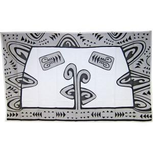 送料無料 アリークリエーションタヒチ パレオ ポリコットン タパ柄(ホワイト) ARII CREATION TAHITI タヒチのブランド タヒチ直輸入品 |tahiti-surf
