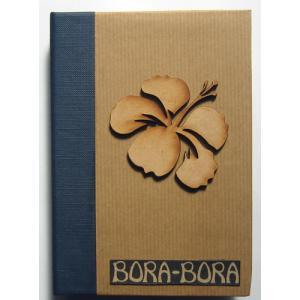 セール品 タヒチ直輸入 木彫りのミニフォトアルバム ボラボラ BORA-BORA|tahiti-surf