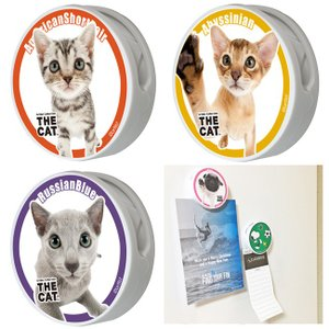 DM便で送料100円 マグネット クリップ クリップマグネット CAT 猫 キャット THE cat ネコ ペット アビシニアン アメリカンショートヘア |tahiti-surf