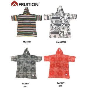 fruition お着替えポンチョ フリュージュン サーフィンポンチョ袖付き マイクロファイバー サーフィン、アウトドア、プール|tahiti-surf