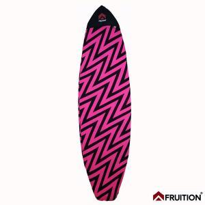 サーフボードケース Fruition ニットケース 6'6/198cm VOLT ピンク ショートボードサーフケース|tahiti-surf