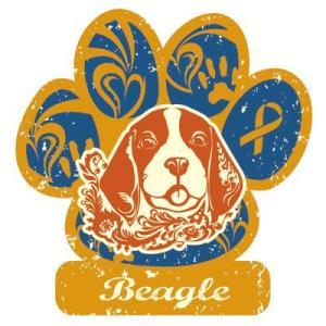 セール品 リボンマグネット パウリボン HAPPY DOG ビーグル Lサイズ ドッグシリーズ レトロハワイ風 盲導犬 メール便で送料無料  tahiti-surf