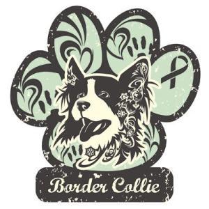 リボンマグネット パウリボン HAPPY DOG ボーダーコリー Lサイズ ドッグシリーズ レトロハワイ風 売上の一部が募金 盲導犬 メール便で送料無料 |tahiti-surf