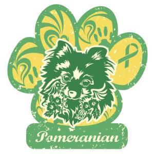 リボンマグネット パウリボン HAPPY DOG ポメラニアン Lサイズ ドッグシリーズ レトロハワイ風 売上の一部が募金 盲導犬 メール便で送料無料 |tahiti-surf