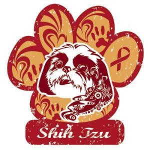 リボンマグネット パウリボン HAPPY DOG シーズー Lサイズ ドッグシリーズ レトロハワイ風 売上の一部が募金 盲導犬 メール便で送料無料 |tahiti-surf