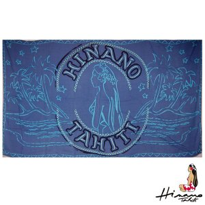 ヒナノタヒチ HINANO TAHITI パレオ ネイビー HEIMOANA WSPPAR1513 タヒチブランド タヒチアンダンス フラダンス|tahiti-surf