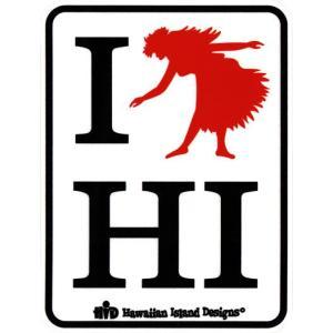 ステッカー ハワイアン アイランドデザイン フラガール HAWAIIAN ISLAND DESIGNS シール クロネコDM便で送料100円|tahiti-surf