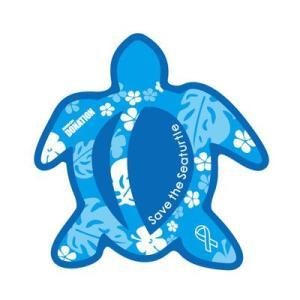 ホヌリボンマグネット ホヌ型  ブルー / ライトブルー S-size  RibbonMagnet 亀 メール便で送料100円|tahiti-surf