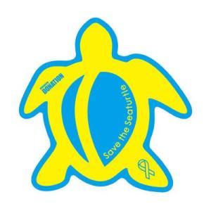 ホヌリボンマグネット ホヌ型  ブルー / イエロー L-size RibbonMagnet 亀 メール便で送料100円|tahiti-surf