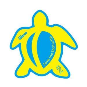 ホヌリボンマグネット ホヌ型  ブルー / イエロー S-size  RibbonMagnet 亀 メール便で送料100円|tahiti-surf