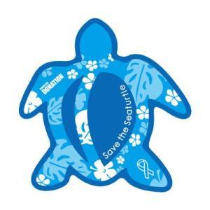 ホヌリボンマグネット ホヌ型  パターン ブルー / ライトブルー L-size RibbonMagnet 亀 メール便で送料100円|tahiti-surf
