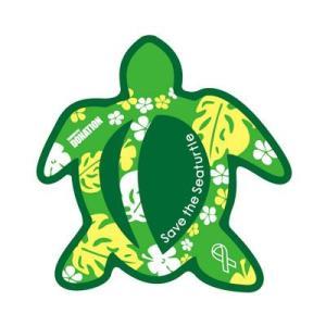 ホヌリボンマグネット ホヌ型  パターン グリーン / ライトグリーン S-size  RibbonMagnet 亀 メール便で送料100円|tahiti-surf