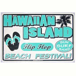 SEAWEED SURF シーウィードサーフ/ブリキ看板 FLIP FLOP(フリップフラップ) ハワイアンパーキングサインボード|tahiti-surf