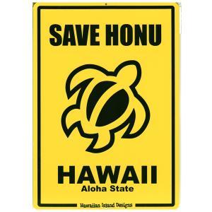 Hawaiian Sign Board ハワイアンサインボード SAVE HONU 看板 ハワイアン雑貨 |tahiti-surf