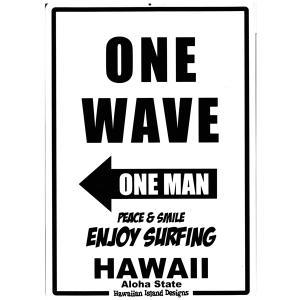 Hawaiian Sign Board ハワイアンサインボード ONE WAVE 看板 ハワイアン雑貨 |tahiti-surf