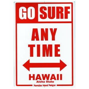 Hawaiian Sign Board ハワイアンサインボード GO SURF 看板 ハワイアン雑貨 |tahiti-surf