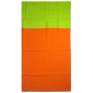 2カラーパレオ 無地 オレンジ ライムグリーン 柄なし2色 レーヨン素材 タヒチアンダンス PAREO 衣装 ポイント2倍|tahiti-surf