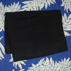 パレオ 無地 ブラック PAREO 柄なし タヒチアンダンス 衣装 ポイント2倍|tahiti-surf