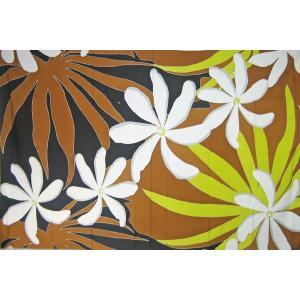 パレオ PAREO グランティアレパレオ ブラック ブラウン タヒチアンダンス フラダンス  |tahiti-surf