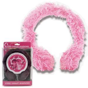 イヤホン イヤーマフヘッドホン(stereo earmuff headphones) ブラックとピンク色 セール iPodなどに レビューを書いてポイント3倍GET|tahiti-surf