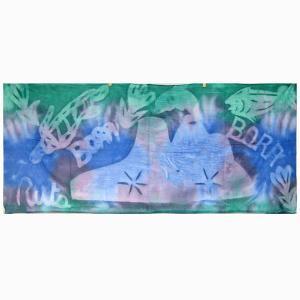 タヒチアン手染めパレオ  ハーフサイズ TAHITIAN PAREO ショートパレオ タヒチボラボラ直輸入|tahiti-surf