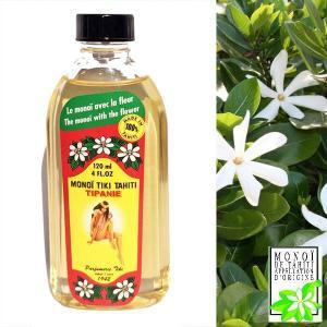 タヒチ産 タヒチモノイティアレオイル 120ml ティパニエ プルメリアの香 TIPANIE TIKI TAHITI  化粧油 MADE IN TAHITI モノイオイル DM便不可|tahiti-surf