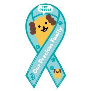 リボンマグネット RibbonMagnet ドッグシリーズ トイプードル TOYPOODLE DOG 犬 黒崎玄デザイン 売上の一部が募金に メール便で送料無料  tahiti-surf